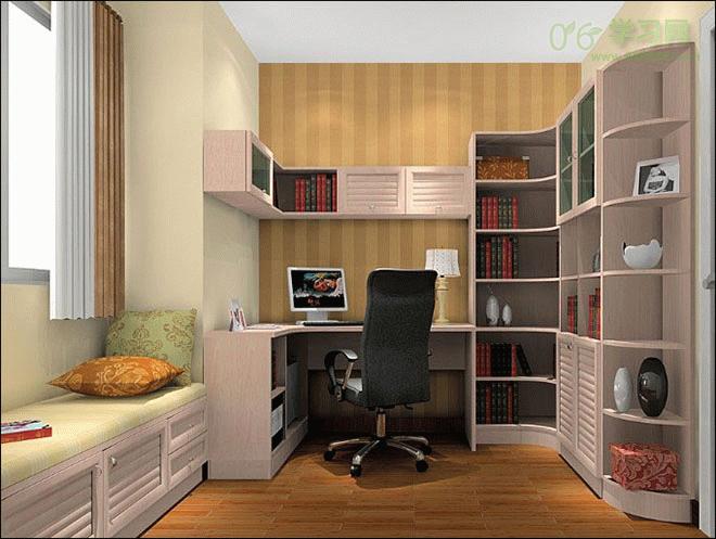 书房装修如何选购转角书柜