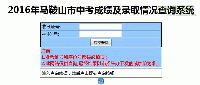 2016马鞍山中考成绩查询www.maseea.cn/zhongk