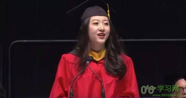 中国女生在美名校毕业演讲 网友:惊艳了全世界
