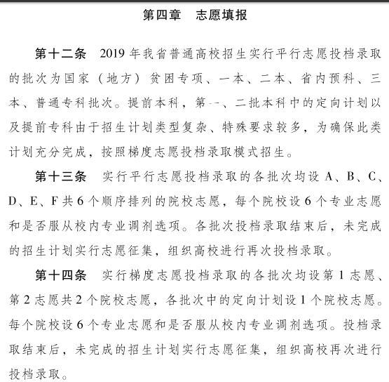 2019年青海高考志愿填报设置